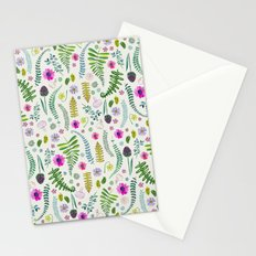 Ferns and Flowers Stationery Cards