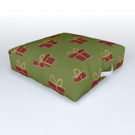 Christmas gifts - green and red Outdoor Floor Cushion