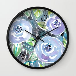 GARDENS OF MONTCLAIR Lavender Floral Wall Clock