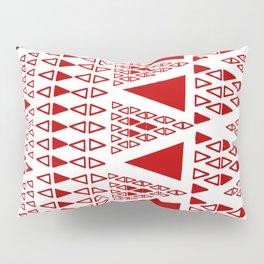 Zig Zag Pattern -  brick red Pillow Sham