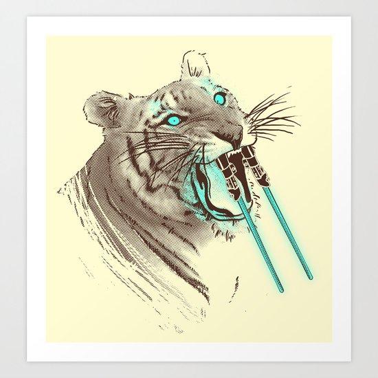 Saber-toothed Tiger Art Print