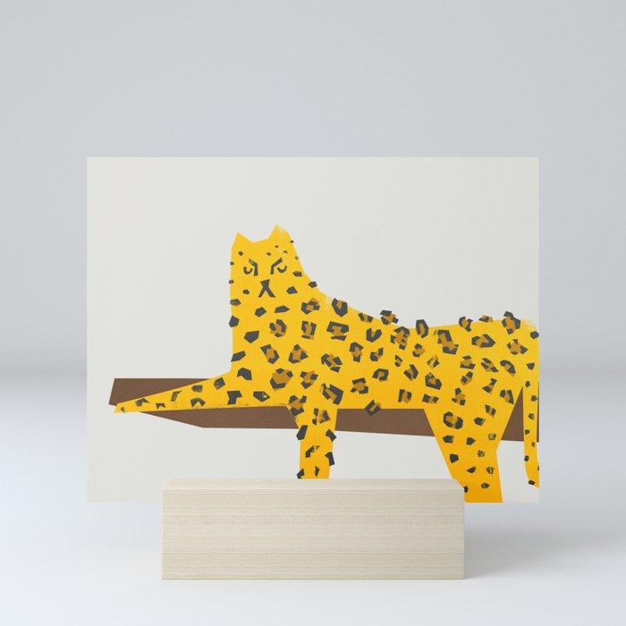 Leopard Lazy Mini Art Print