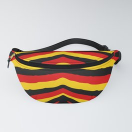 Yellow Red and Black German Zebra Jungle Stripes Fanny Pack