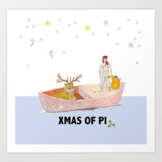Xmas of Pi Art Print