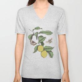 Lemons in Spring Unisex V-Neck