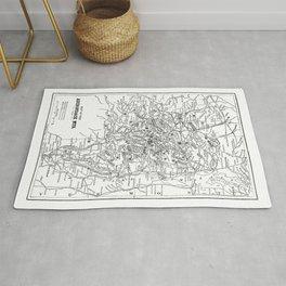 Adirondack Mountains Map Rug