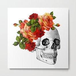 Dia De Los Muertos Sugar Skull Metal Print