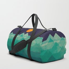 The ocean, the sea, the wave - night scene Duffle Bag