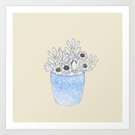Plants in Pots no.2 Art Print