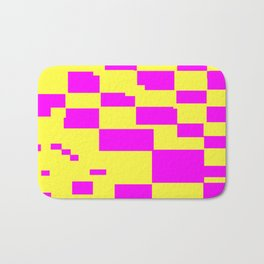 Egg Yellow-Fuchsia City Scapes Abstract Bath Mat