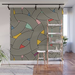 Modern Scandinavian Multi Colour Color Curve Graphic Wall Mural