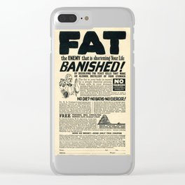 Fat Has Banished! Clear iPhone Case