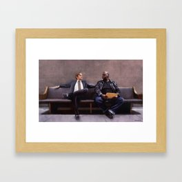Jimmy McGill And Huell Babineaux From Breaking Bad And Better Call Saul Framed Art Print