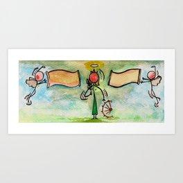 "#cagsticks ""St.Catherine of Alexandria"" Art Print"