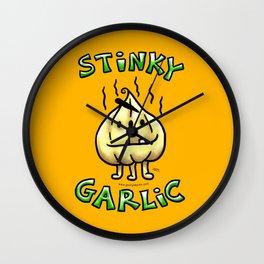 Stinky Garlic! Wall Clock