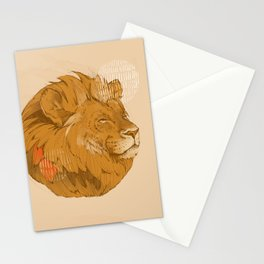Lion | Circle Stationery Cards