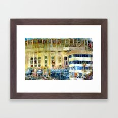 The Old Yankee Stadium Watercolor Framed Art Print