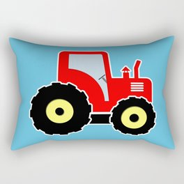 Red toy tractor Rectangular Pillow