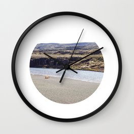 In the middle of nowhere, Iceland Wall Clock