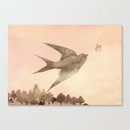 Sunset Swallow Canvas Print