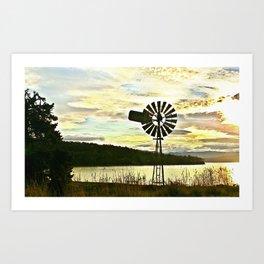 Windmill Bruny Island Art Print