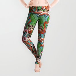 Flamingo Party Leggings