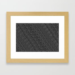 Binary Code DOS diagonal version Framed Art Print