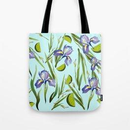 Iris Lime Tote Bag