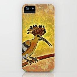 Hoopoe 2 / Nature iPhone Case