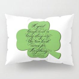 St. Patrick's Day Shamrock Irish Proverb Pillow Sham