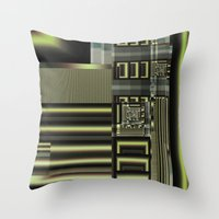 industrial Throw Pillows featuring Industrial by inkedsandra
