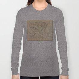 Vintage Map of Arkansas (1866) Long Sleeve T-shirt
