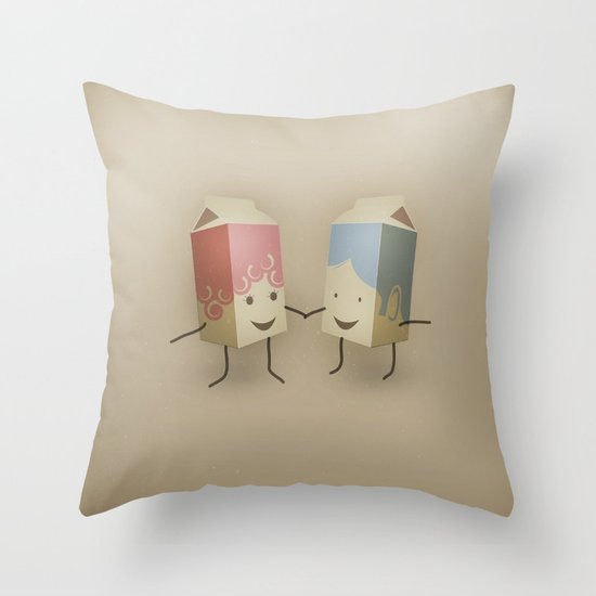 I only have pasteurised for you Throw Pillow