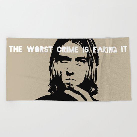 Badass Cobain Beach Towel