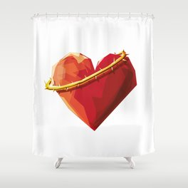 Thorny Heart Shower Curtain