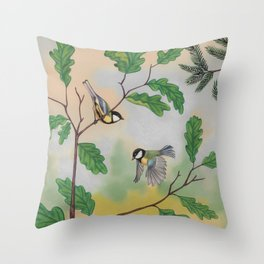 Back to childhood Throw Pillow