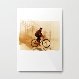 The Biker Metal Print