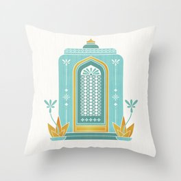 Moroccan Doorway Throw Pillow