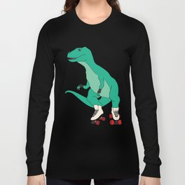 Tyrollersaurus Rex Long Sleeve T-shirt