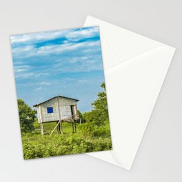 Traditional Cane House at Tropical Meadow, Guayas District, Ecuador Stationery Cards