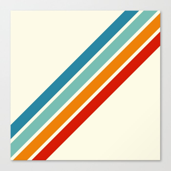 Alator - Classic 70s Retro Summer Stripes Leinwanddruck