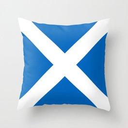 Flag of Scotland Throw Pillow