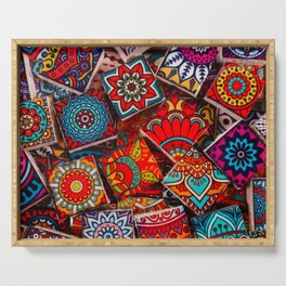 V1 Traditional Moroccan Colored Stones. Serving Tray