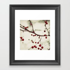dark berries Framed Art Print