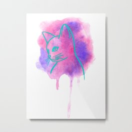 Nebula the cat Metal Print