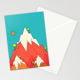 Little tree mountains Stationery Cards