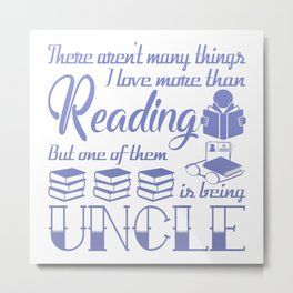 Reading Uncle Metal Print