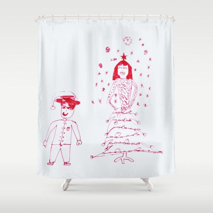 Christmas Fashion Shower Curtain By Azima