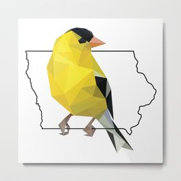 Iowa – American Goldfinch Metal Print