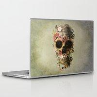 garden Laptop & iPad Skins featuring Garden Skull Light by Ali GULEC